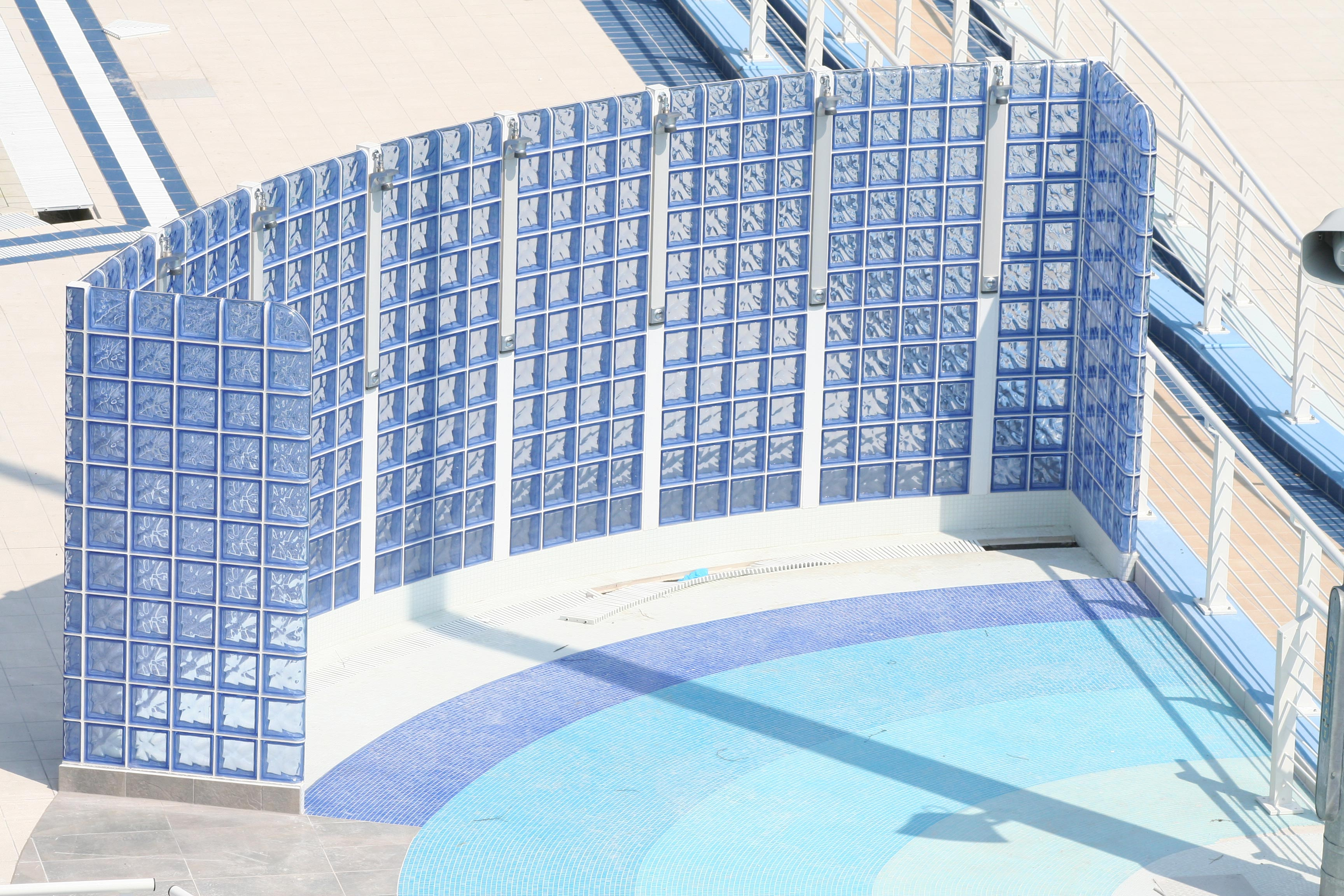 Seves product photo gallery buffalo glass block for Pool showers