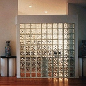 Interior Dividing Wall of Glass Block