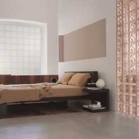 Glass block bedroom