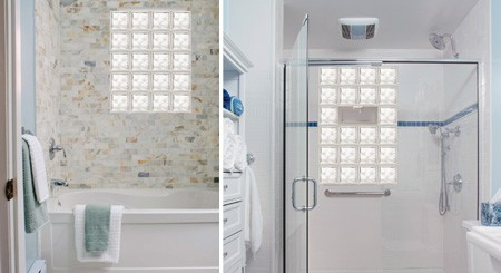 Beau Glass Block Bathroom Windows